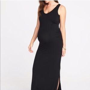 Old Navy Maternity Black Maxi Dress - Medium